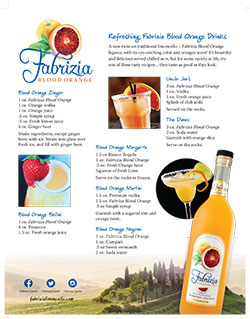 Blood Orange Drink Sheet