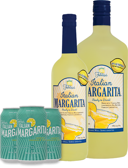 italian margarita bottle and cans