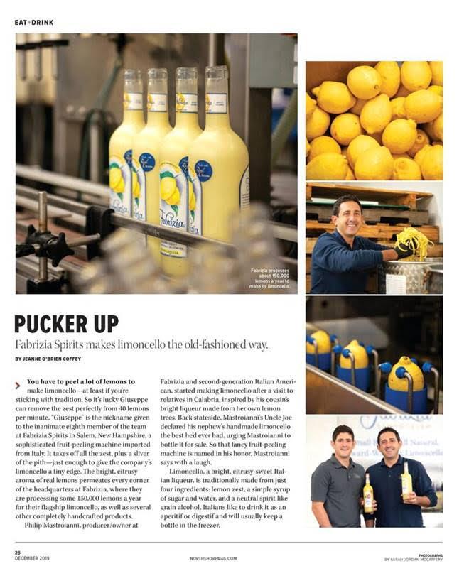 Fabrizia Spirits in North Shore Magazine