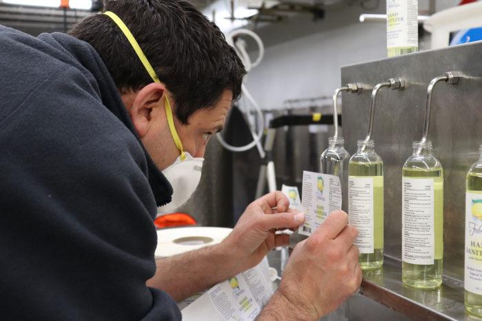 hand sanitizer bottle labeling